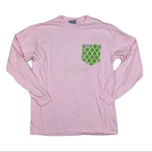 Fraternity Collection Long Sleeve Pocket T Shirt